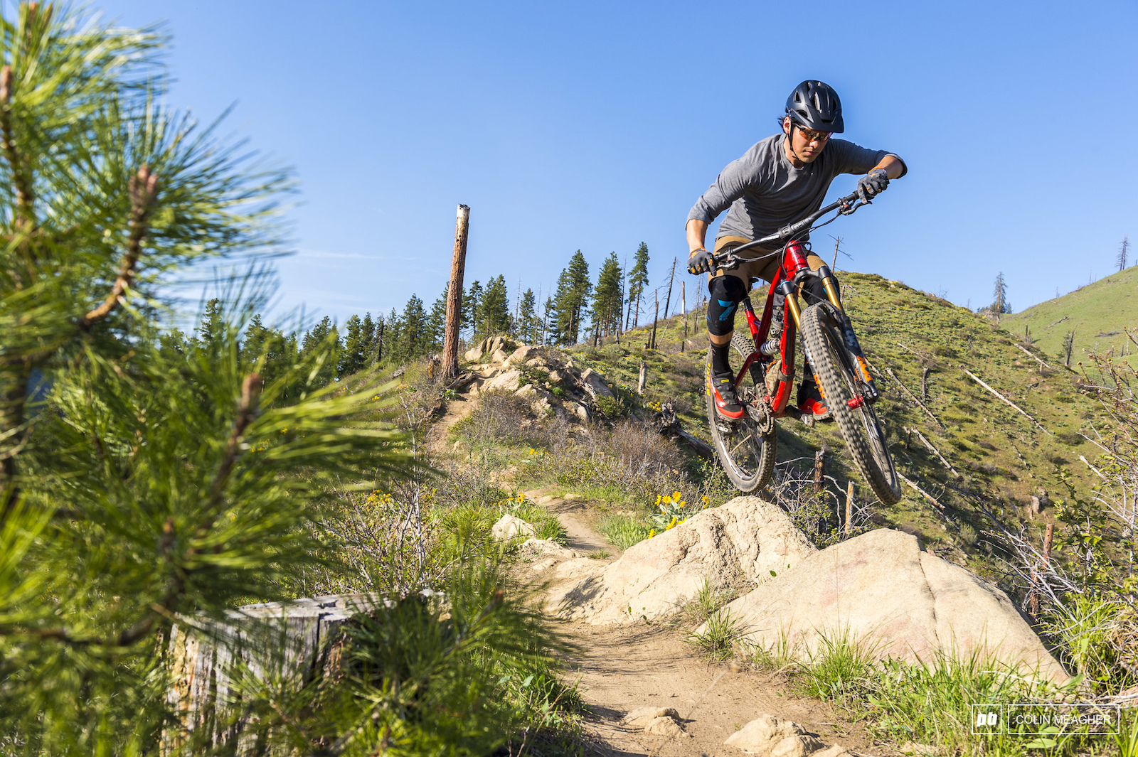 Jameson Florence riding trails in Leavenworth WA