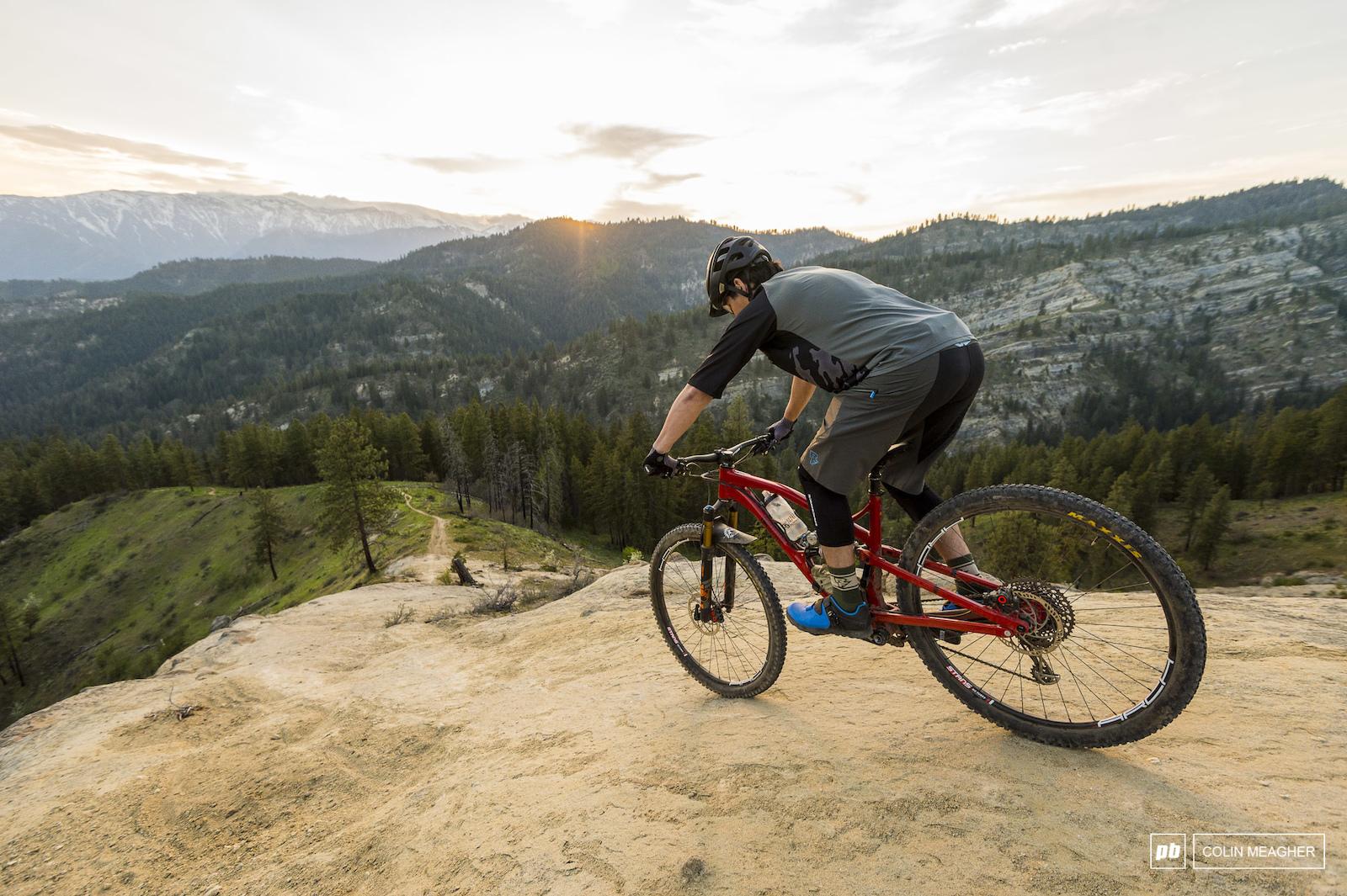Jameson Florence riding trails in Leavenworth WA