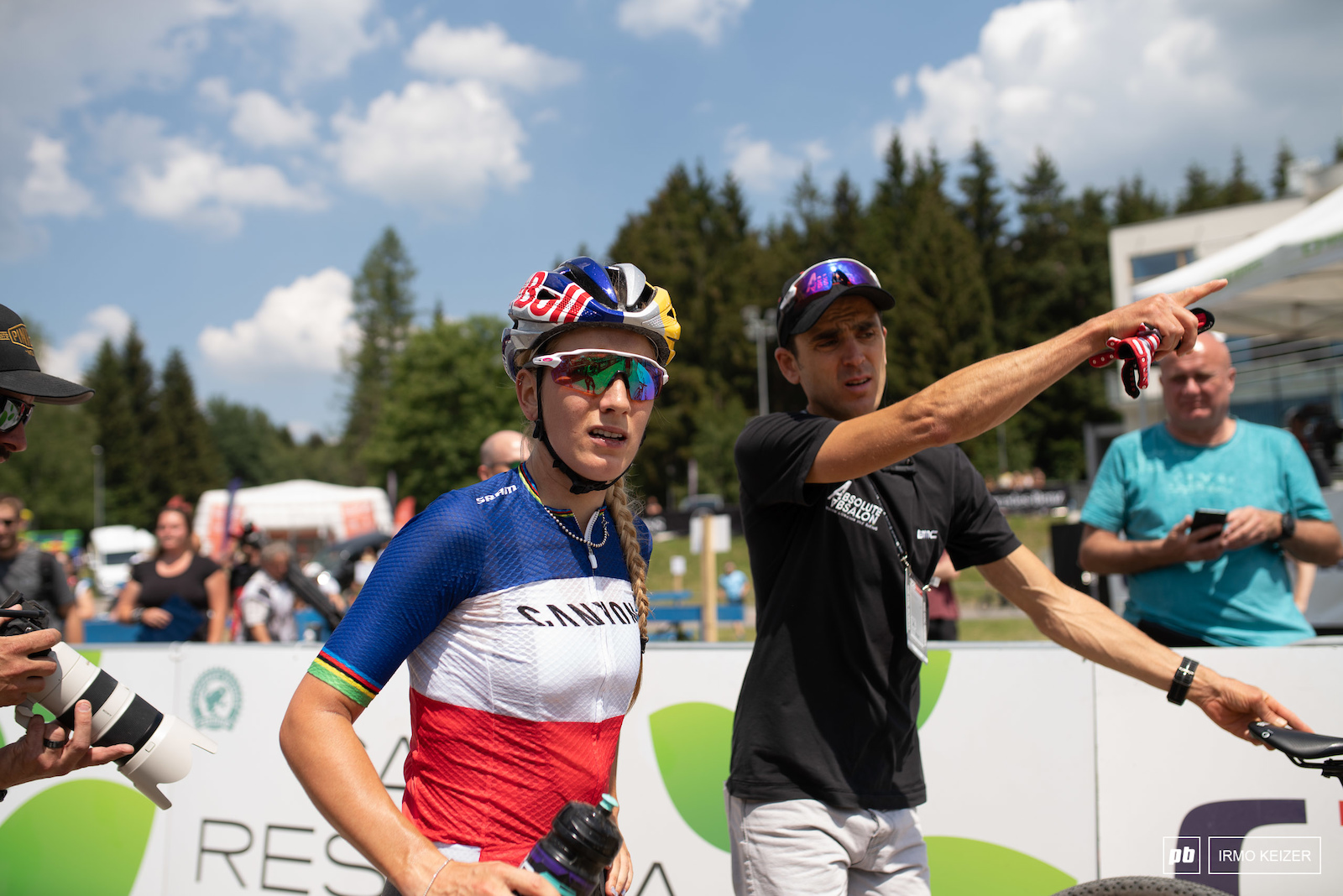 Pauline Ferrand-Prevot is in form and took third today.