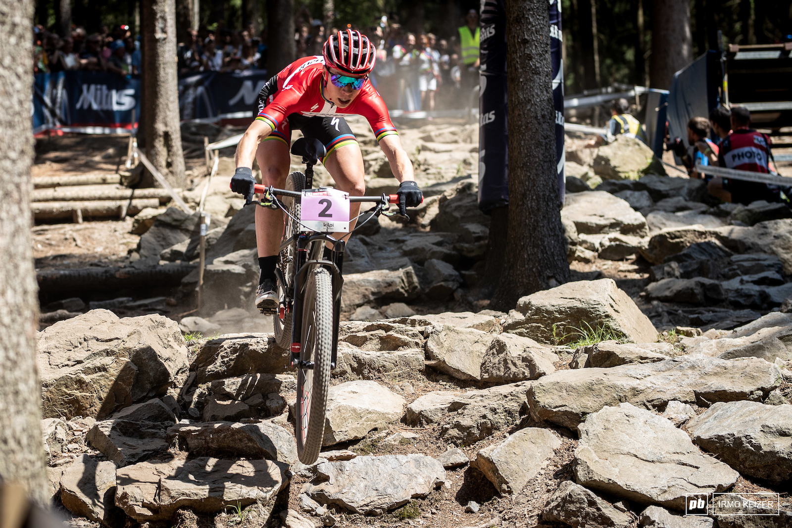 Annika Langvad is not a fan of a slippery Albstadt course. Conditions in Nove Mesto where super dry and she went flat out trying to loose her competition.