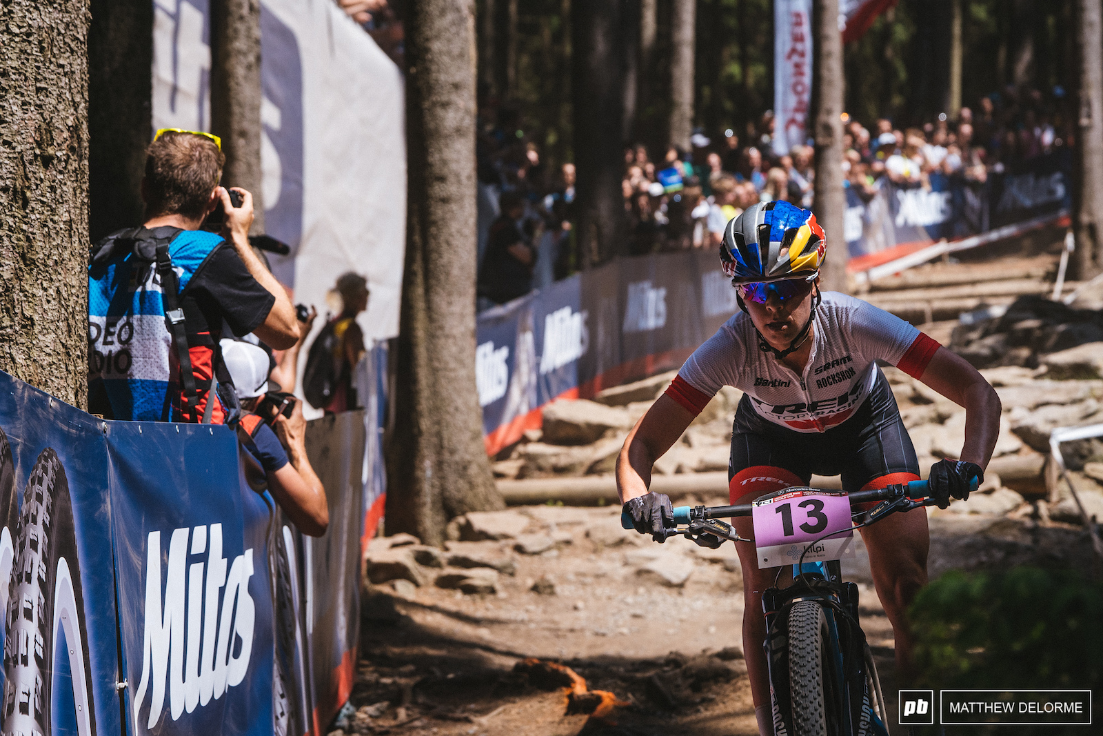 Emily Batty found her fire today and rode to an impressive fourth place finish.