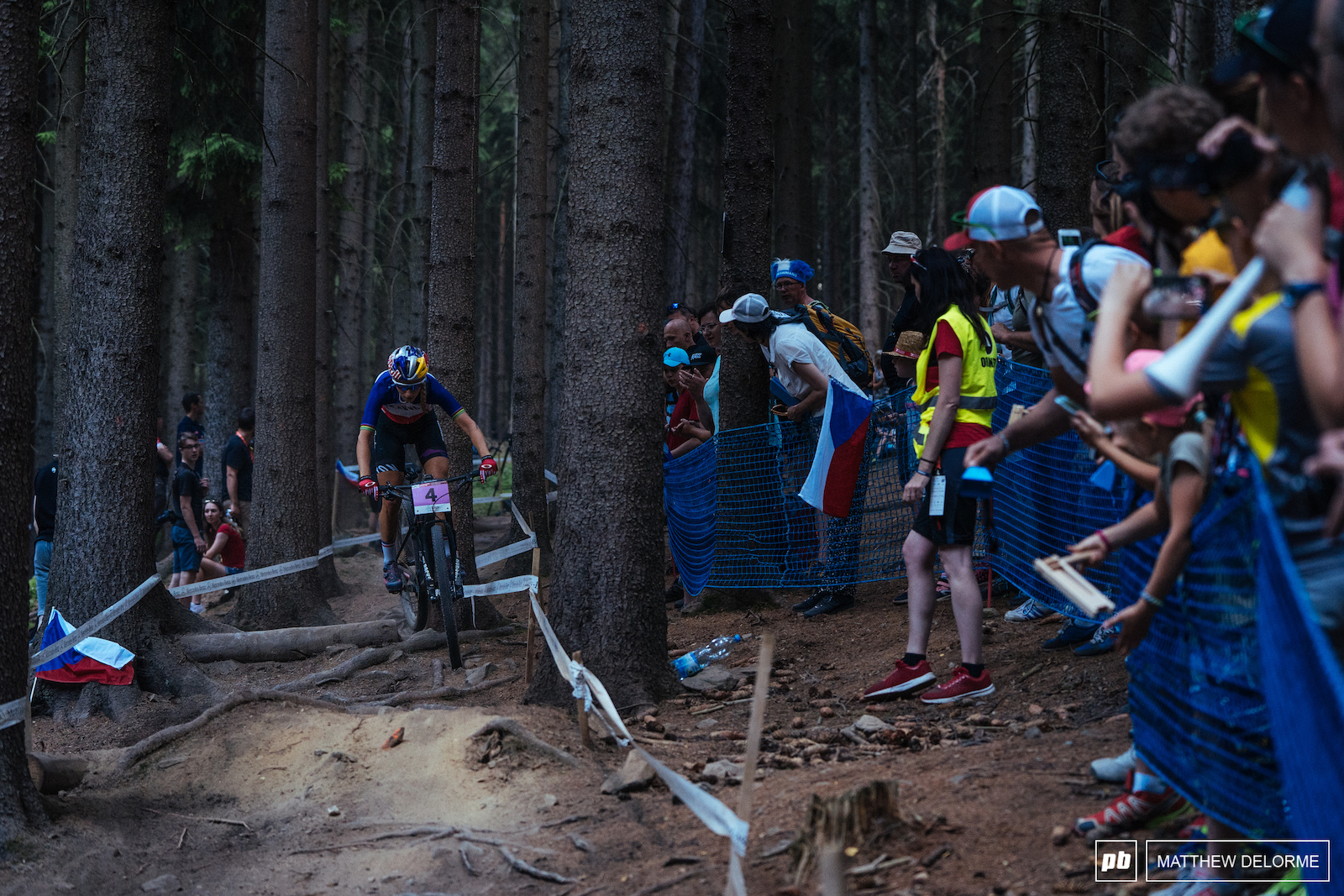 Pauline Ferrand Prevot was smooth and consistent on her way to third.
