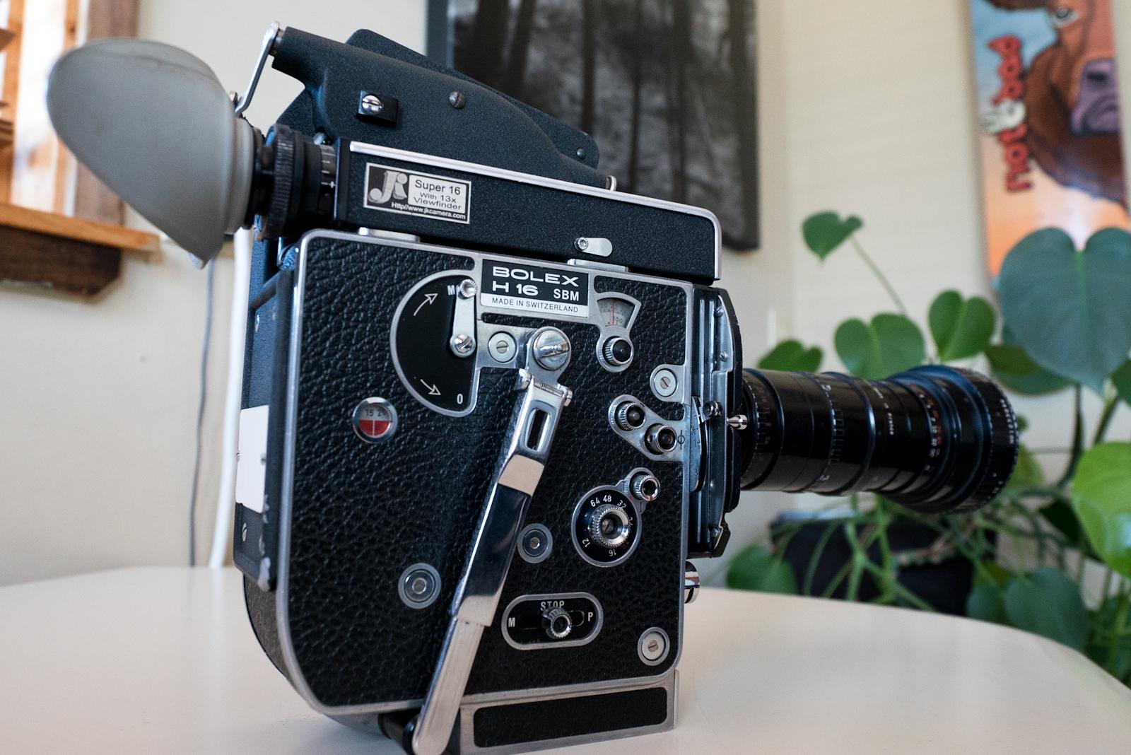 Bolex film camera