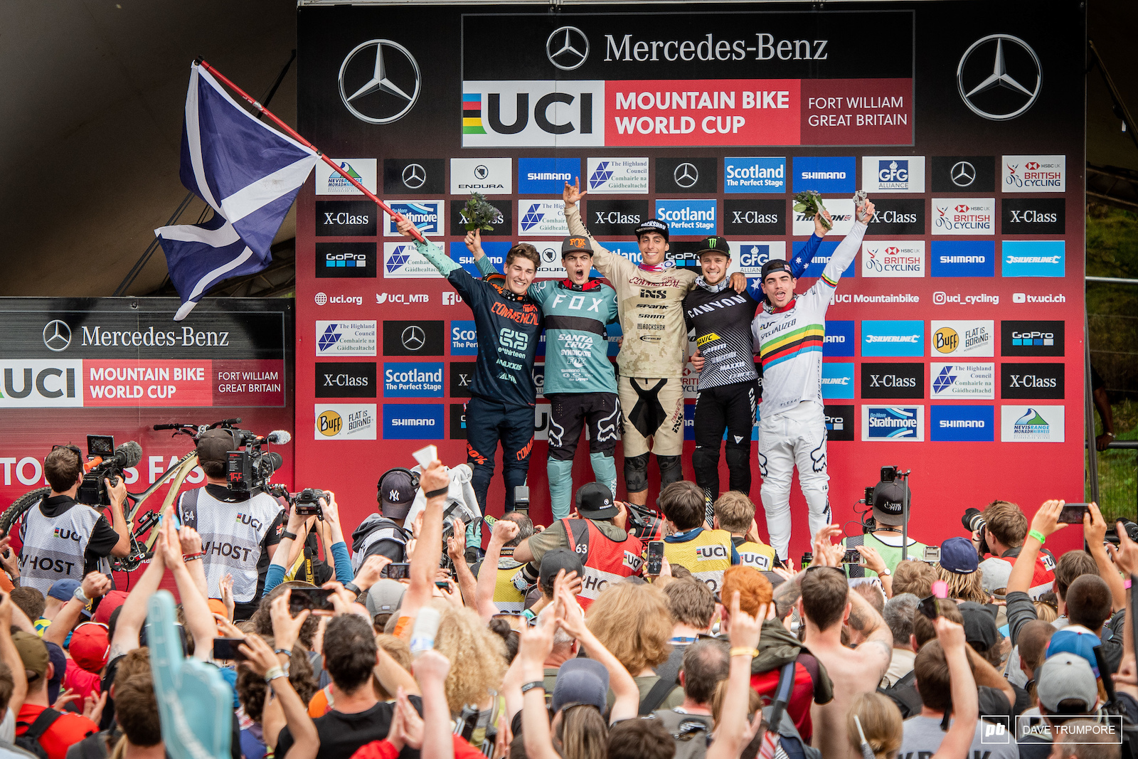Three french a Scotsman and and Aussie top the podium in Fort William.