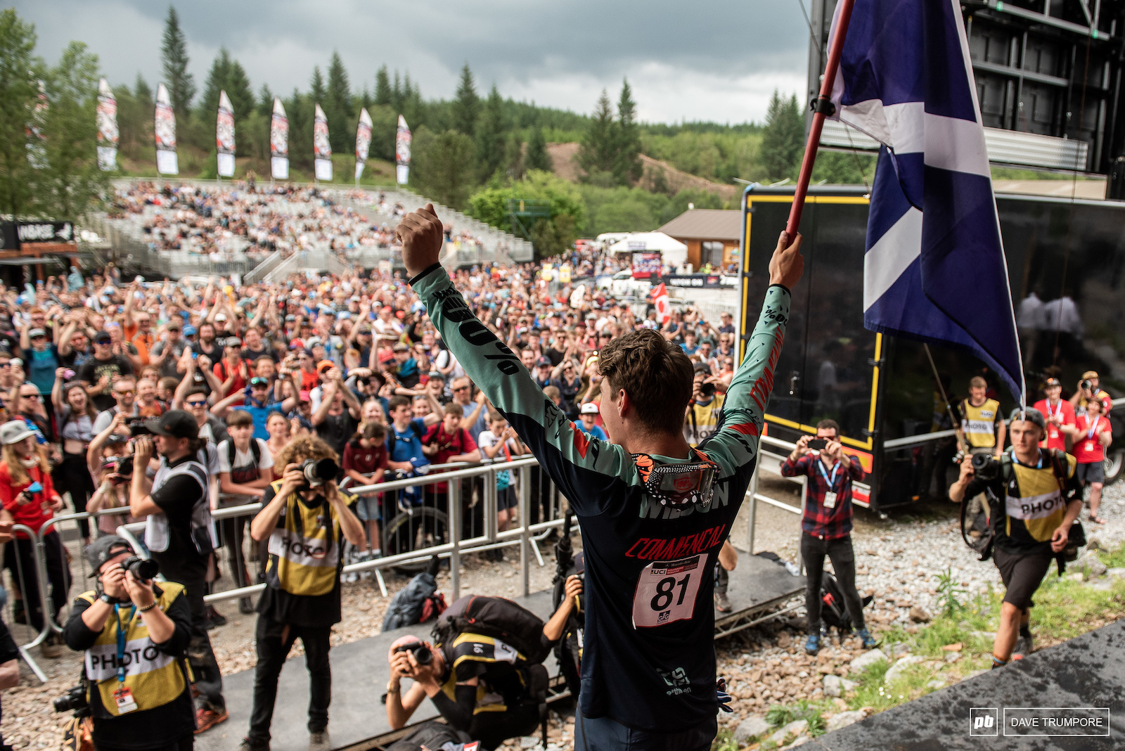 Reece Wilson became the first Scotsman to climb onto a World Cup podium and he did it with style in front of his family and friends.