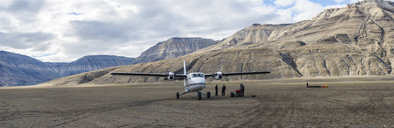 A Twin Otter with custom tundra tires was our transportation on and off the island. Blake Jorgenson Red Bull Content Pool