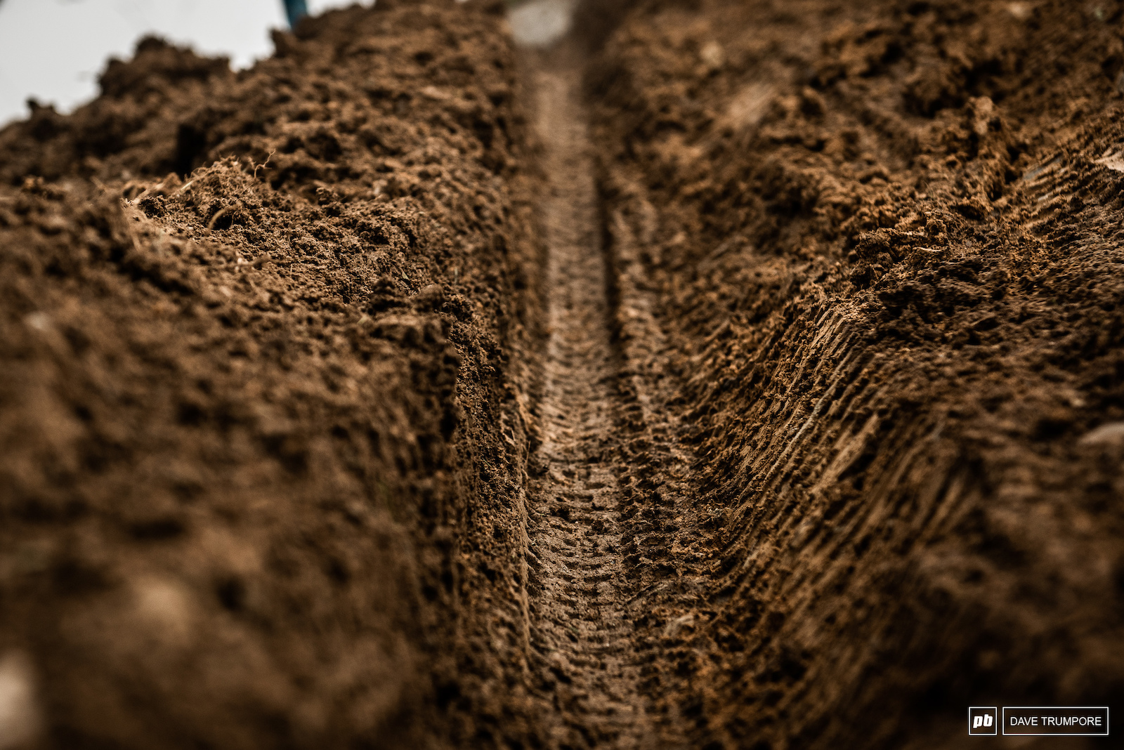 Did we mention that the ground is soft Just one of many monster ruts on track.