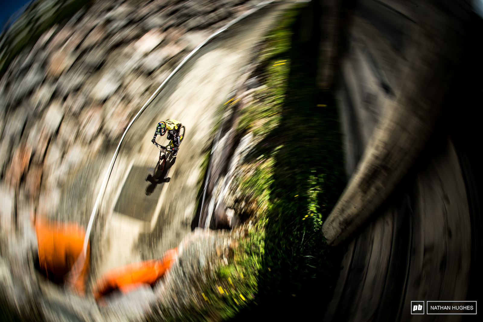 Connor Fearon in a speed spiral entering tunnel 1.