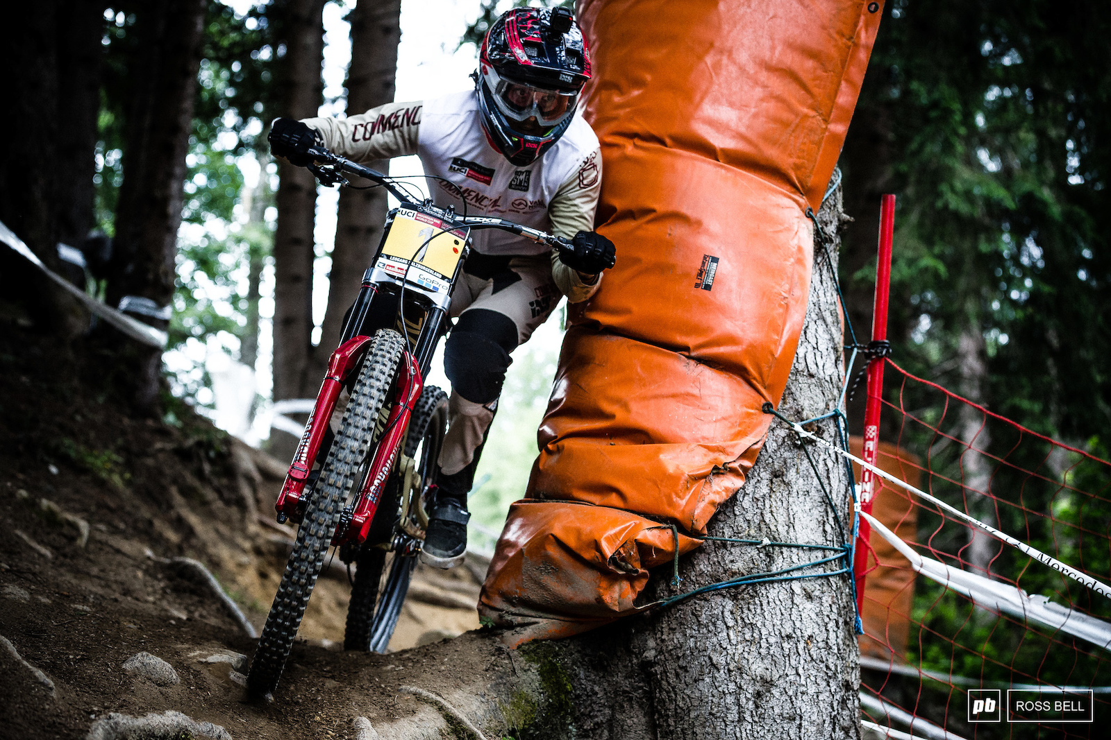 Thibaut Daprela making space where there is none on his way to a fastest qualifying time in juniors.