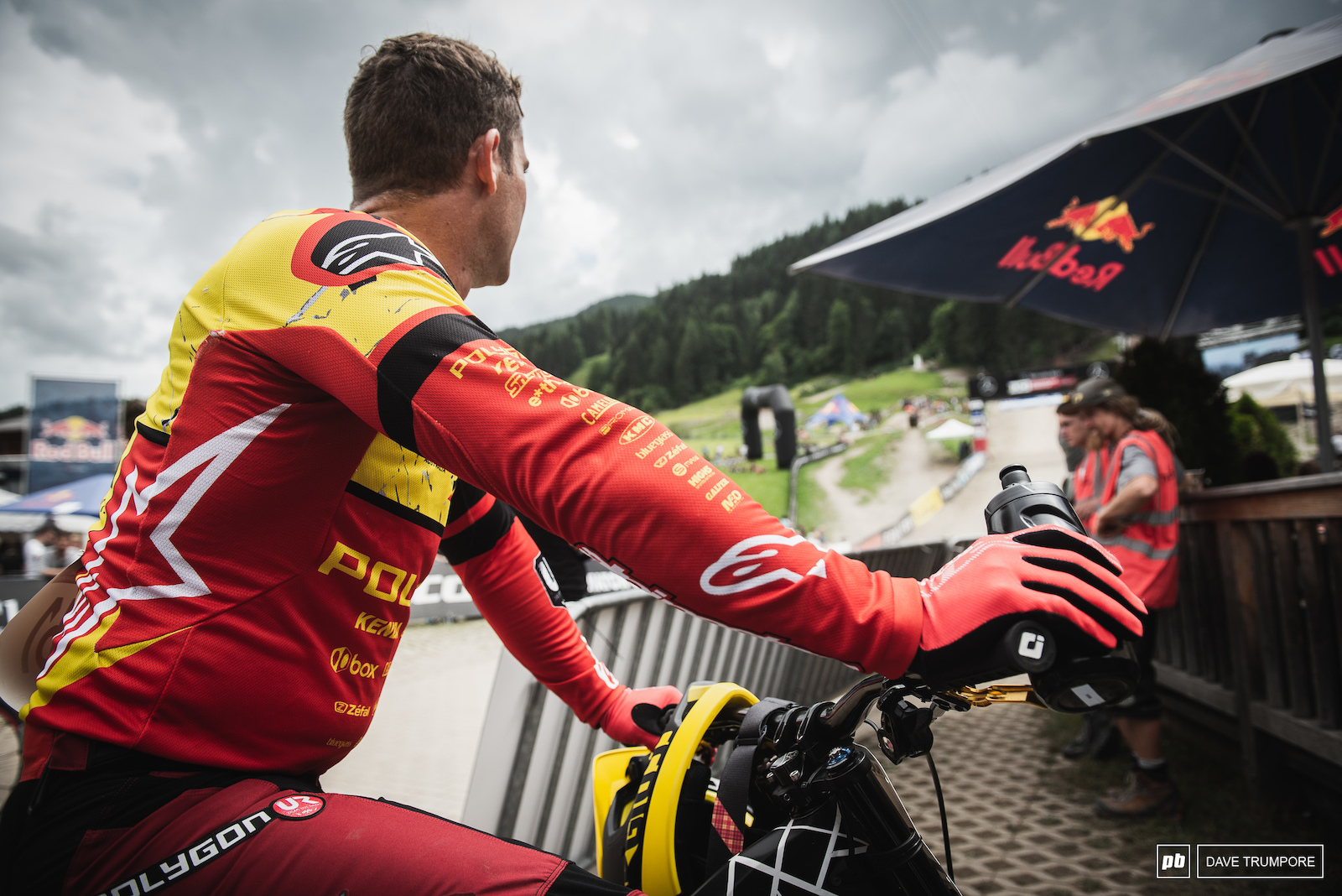 After not making the finals last week Mick Hannah was all nerves at the finish in Leogang. But all is well and he can now rest easy knowing he made the big show in Austria.