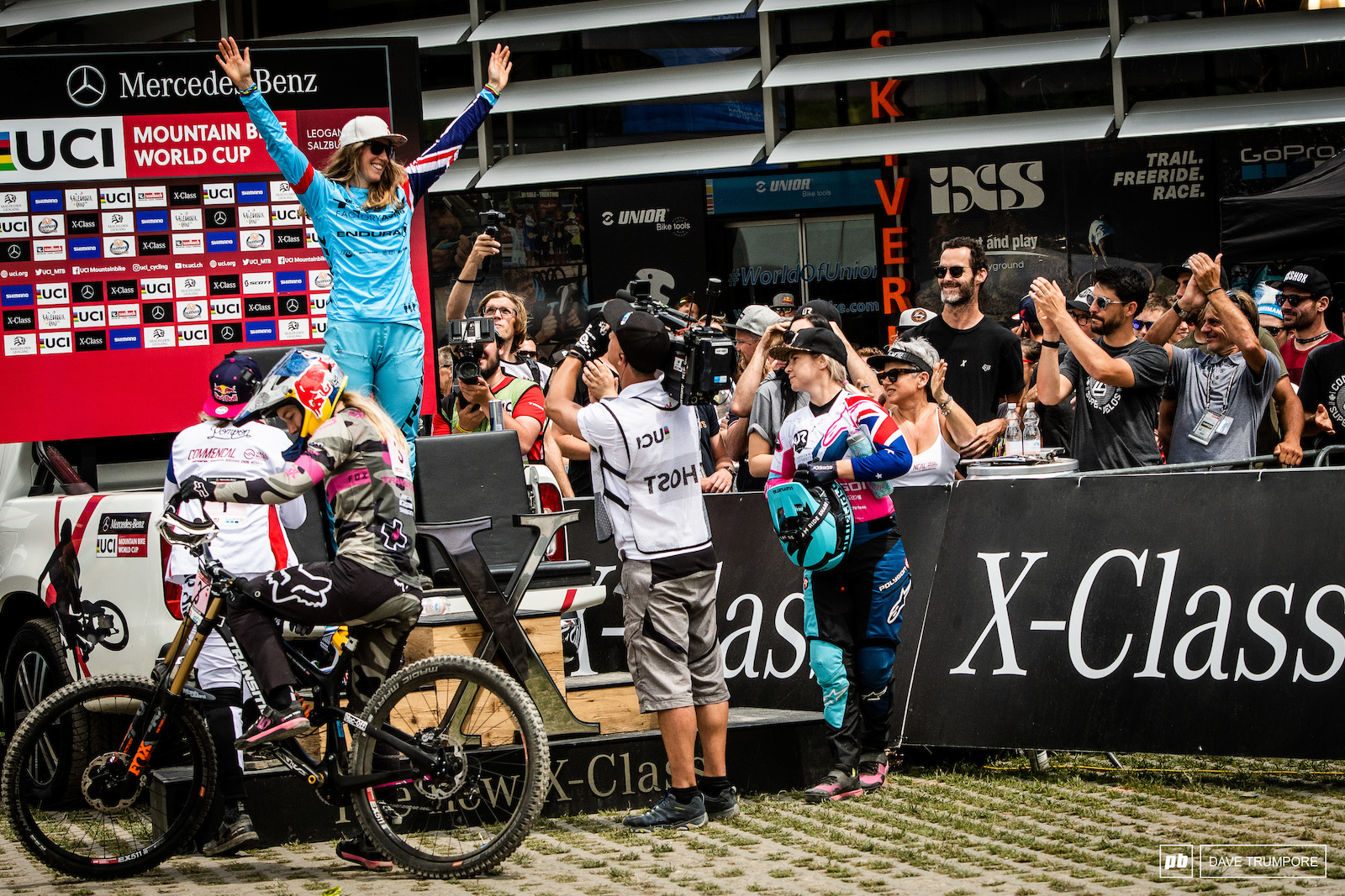 A long time coming. Rachel Atherton gets her revenge after rough one last week in Fort William and takes the win here in Leogang.