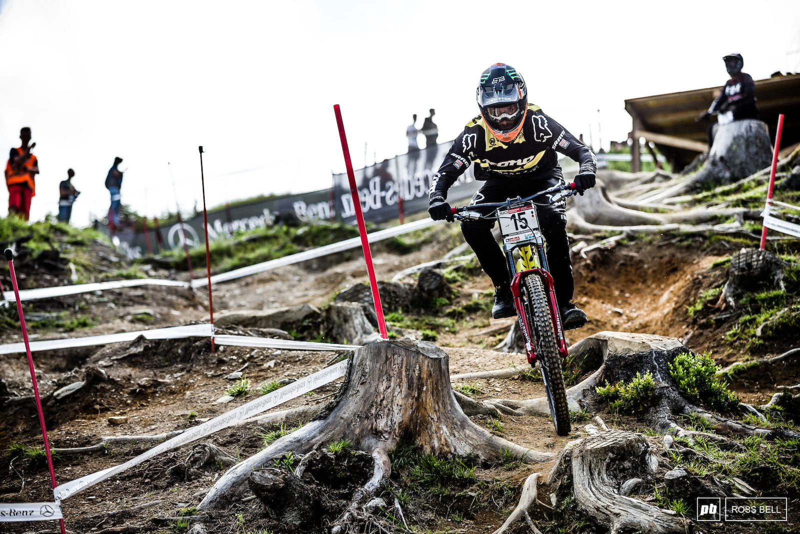 Fearon is a consistent threat to the podium in Leogang he ended up 7th less than a second off.
