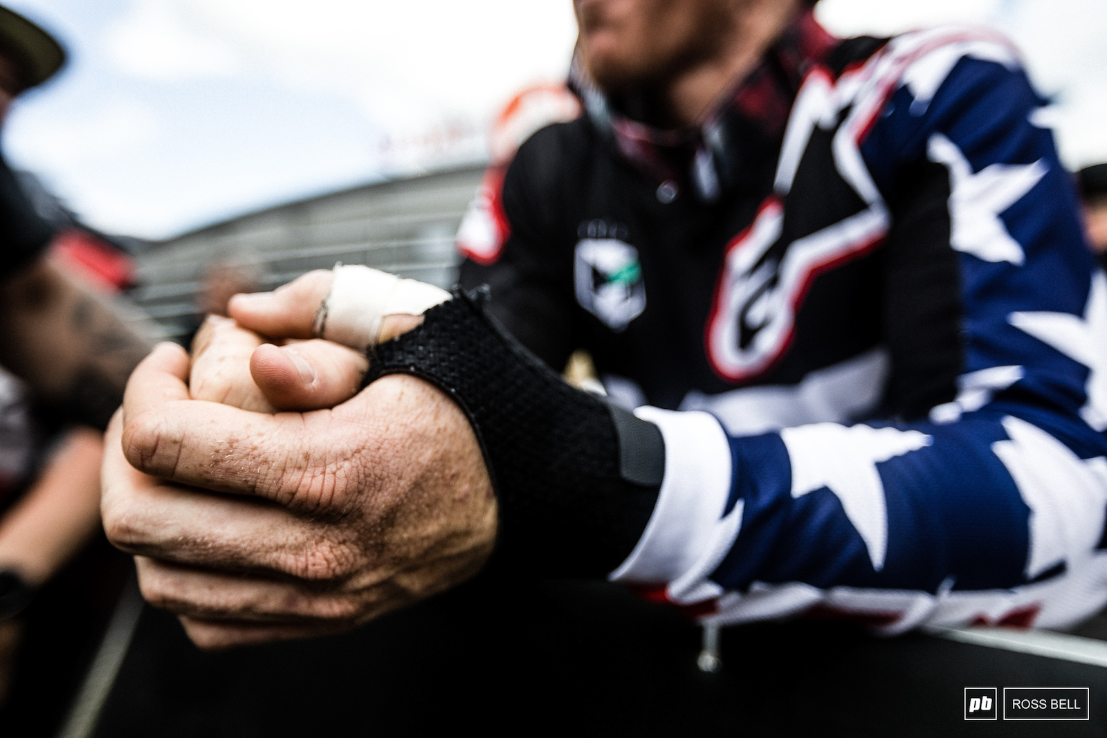 Gwin s strapped and bandaged hands you wouldn t guess they were giving him much discomfort when you watched his race run.