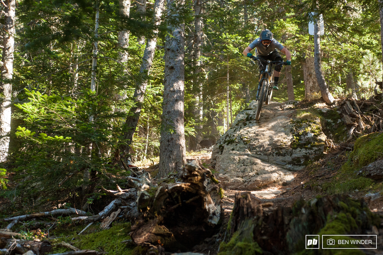 The trails in Andorra use many different parts of the hill and the terrain varies massively.