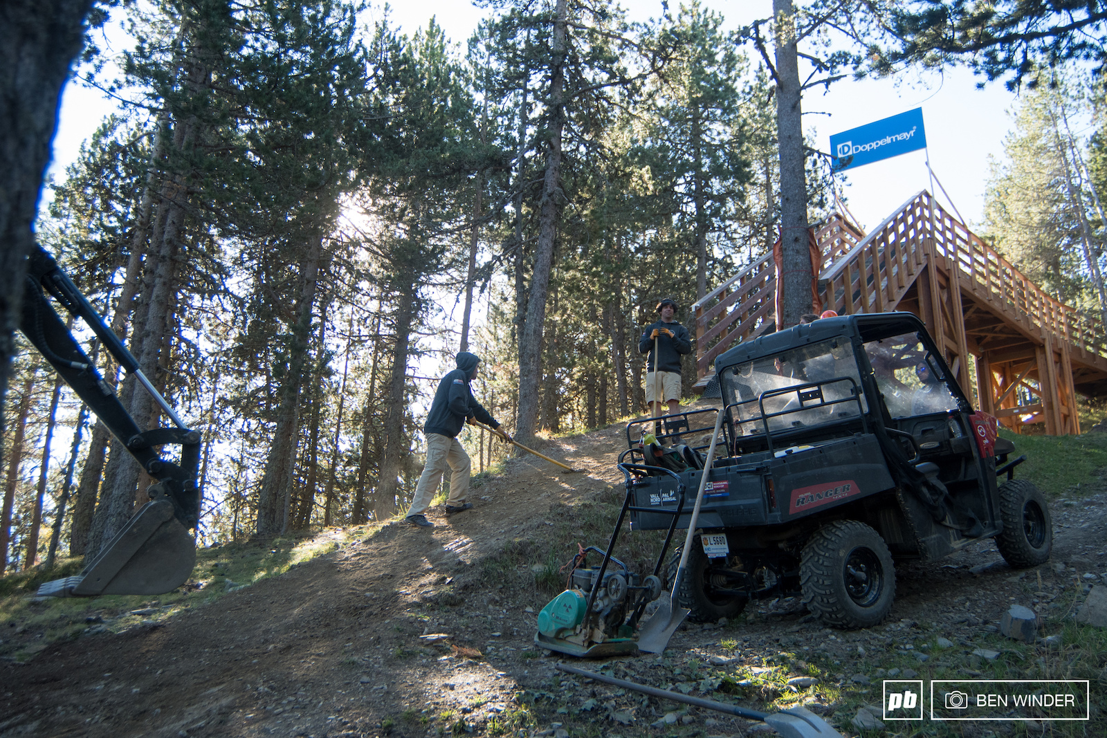 A full-time trail crew in Vallnord keep the trails as fresh as possible.