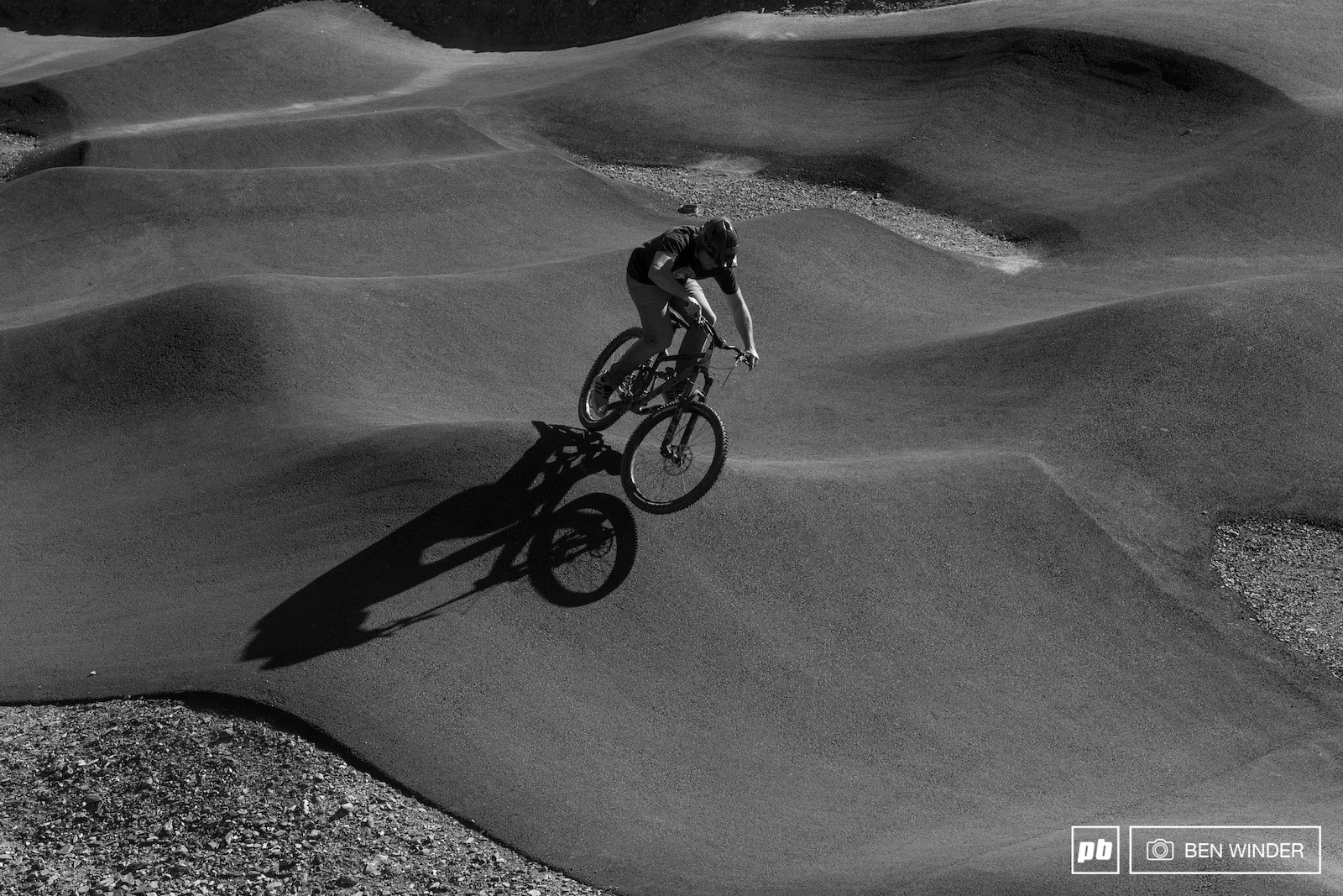 A tarmac pumptrack at the top of the World Cup track is a great place to spend an evening.