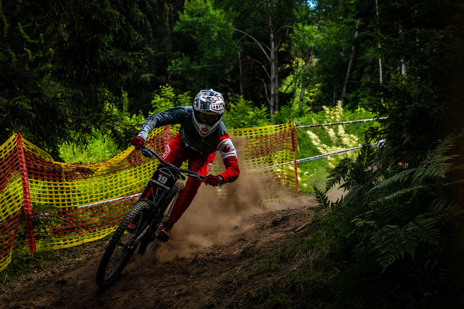 Canadian rider Kirk McDowell missed the podium by 0.01 of a second. It s incredible to think how close the times are in downhill racing these days.