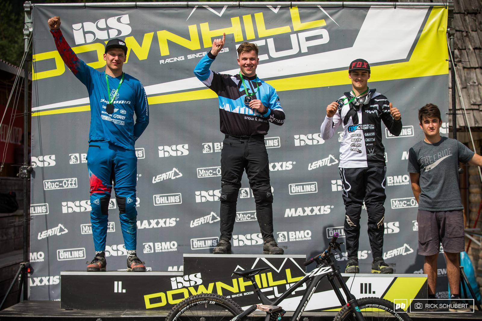 Pro U19 male podium with Marcel Merkeli Tristan Botteram Hannes Lehmann and Zak Gomilscek