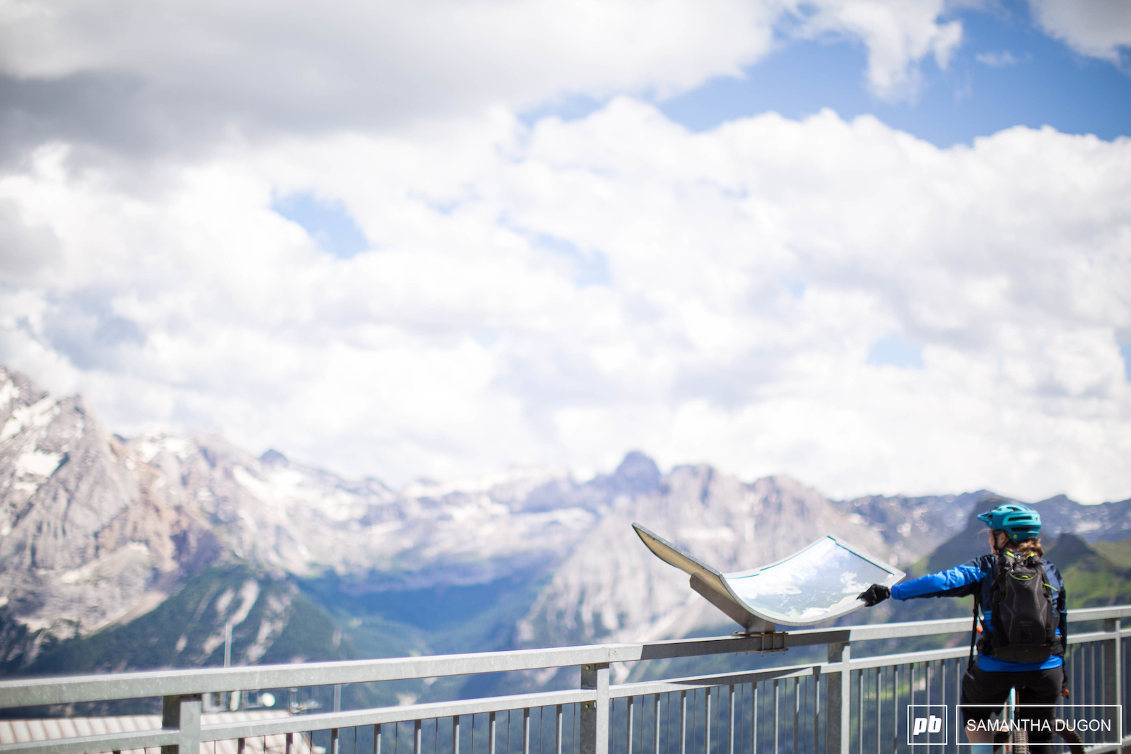 Taking some time to take in the scenery at the top of Col Rodella Dolomites.