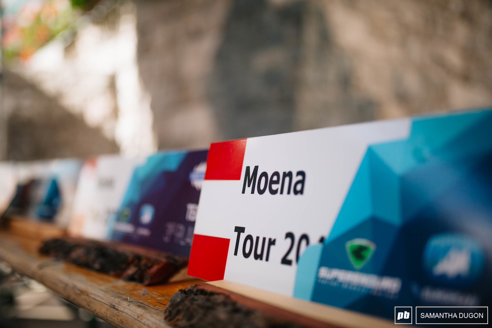 This years trophies were old mountain signposts so everyone took home a little part of Canazei. Fitted with not only the Superenduro logo but the new European Enduro Series logo.