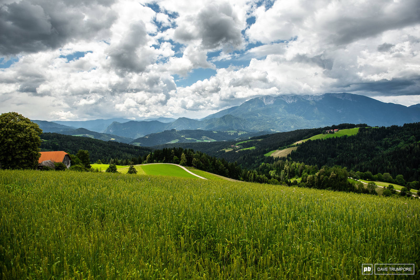 The Austrian - Slovenian border is not to bad on the eyes.