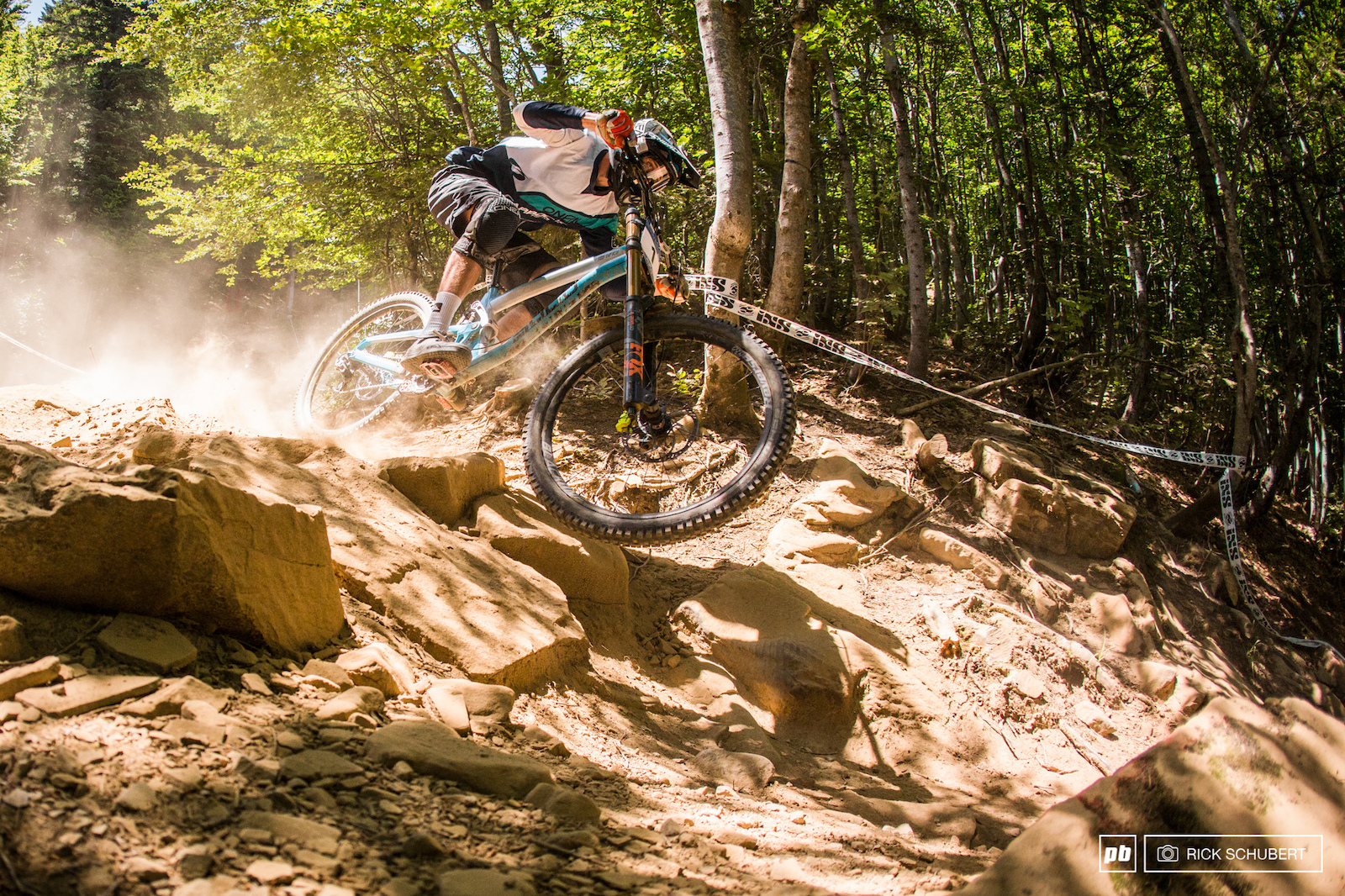Riders were fighting the dust all weekend