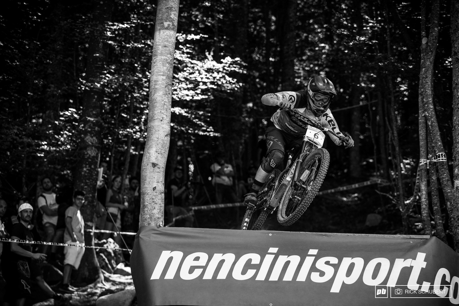 Stanislav Sehnal pushed hard coming out of the dark woods into the very last turn