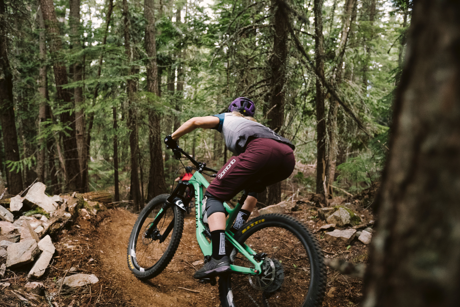 The tacky well built trails in Nelson mean letting off the brakes and holding on