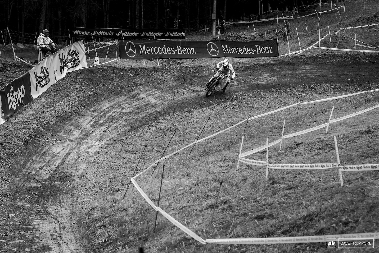 Loic Bruni getting a big drift on around the final corner that even Sam Hill would be proud of.