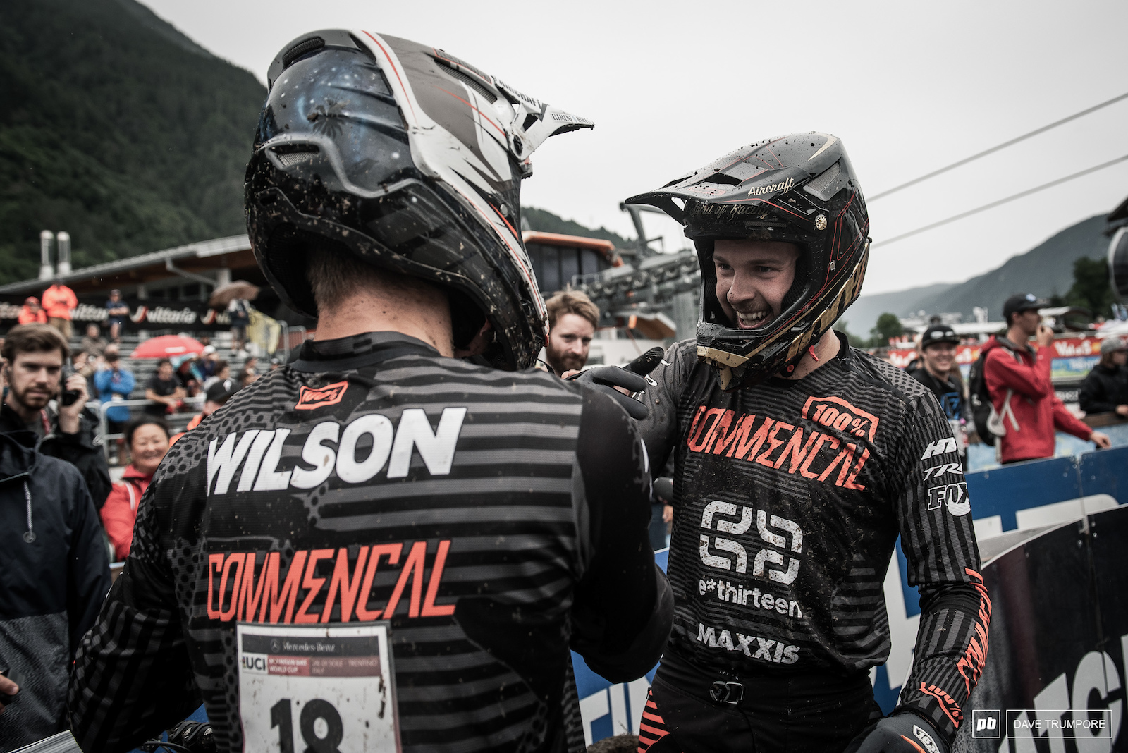Teammates Thomas Estaque and Reese Wilson went 7th and 8th today after slipping and sliding down Val di Sole s Black Snake.