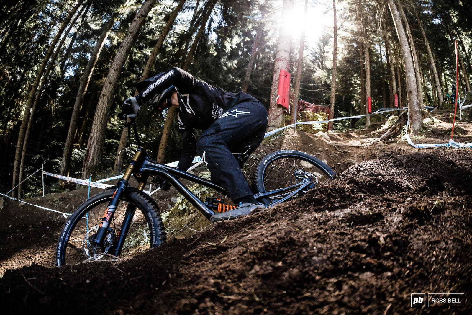 Matt Simmonds is back on a downhill track after switching his focus to enduro he qualified safely in 19th.