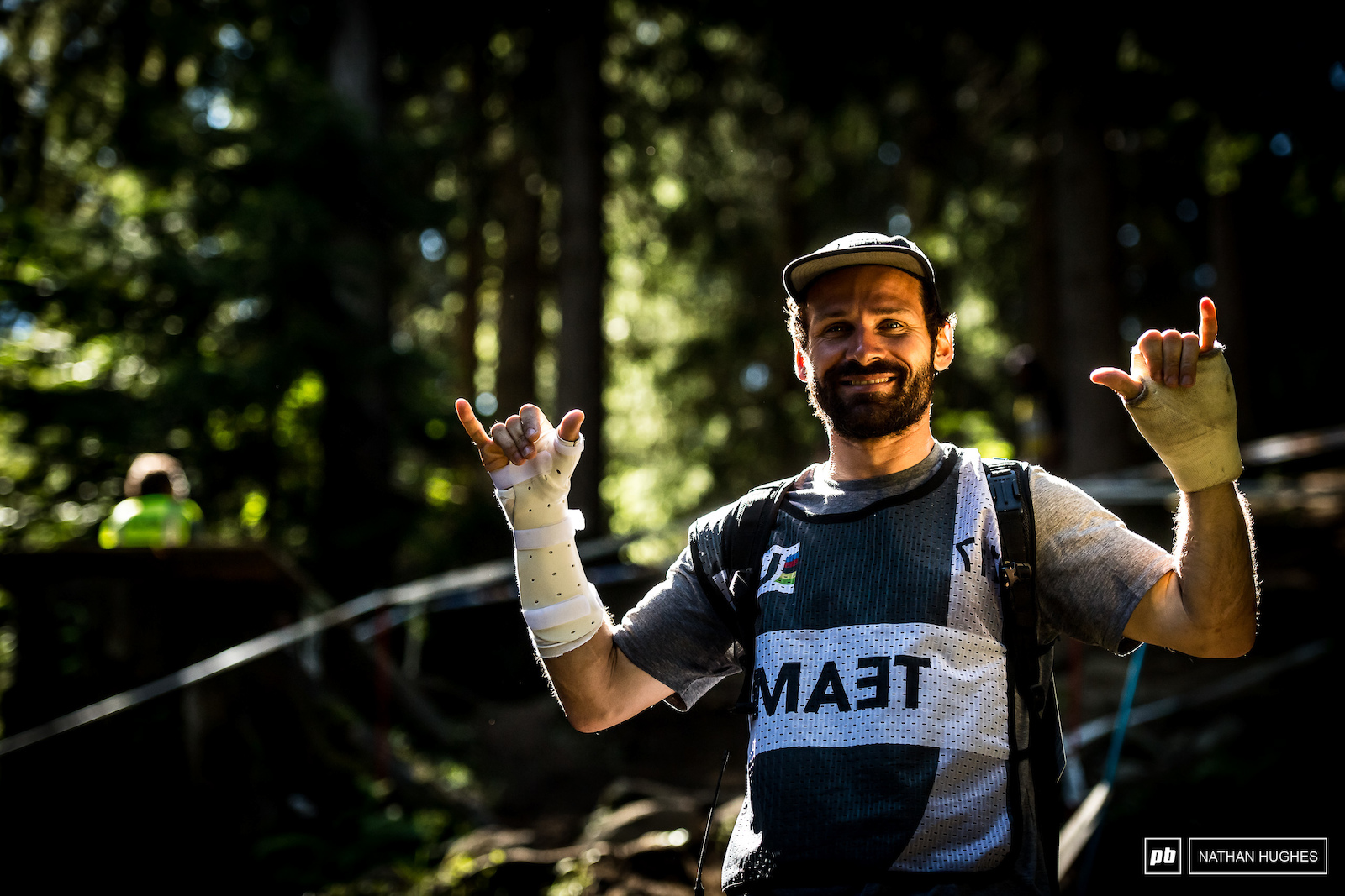 Commencal Riding Addiction team manager Thibaut Ruffin may have been in the wars lately but his team is still on top of the pile.