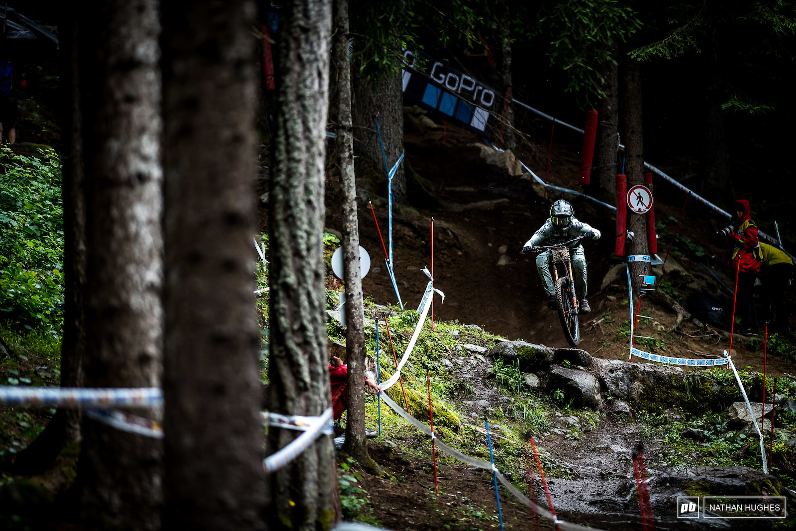 Loris Vergier storming over the old road gap and onto yet another top 10 finish.