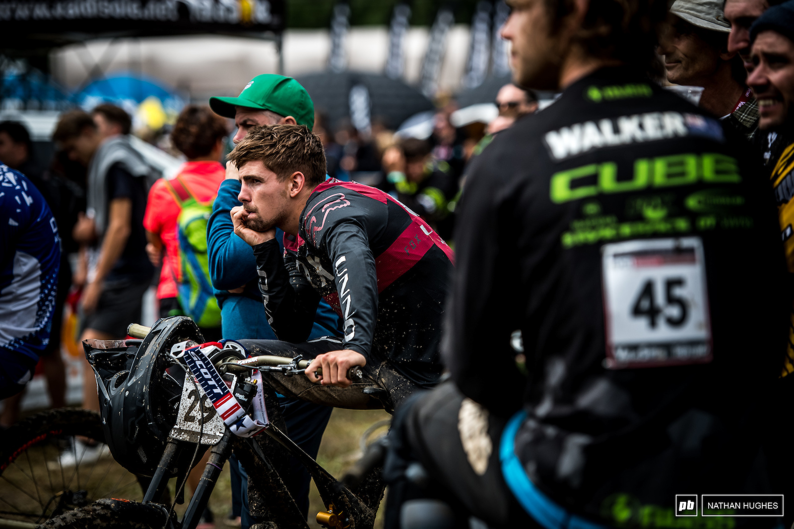Taylor Vernon on the anxious wait to see if he made the cut after a survival run in the mud.