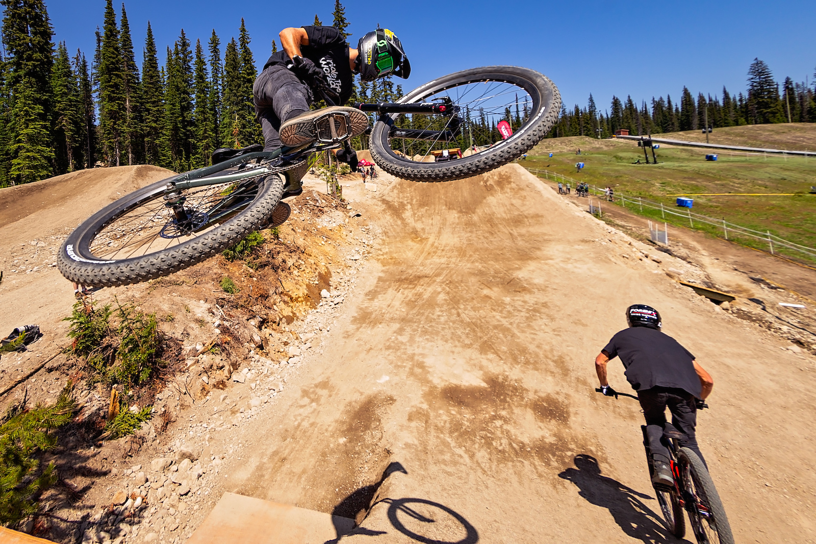 Big White Slopestyle Invitational shot at Big White in British Columbia on July 5 2018. photo by clint trahan clinttrahan.com