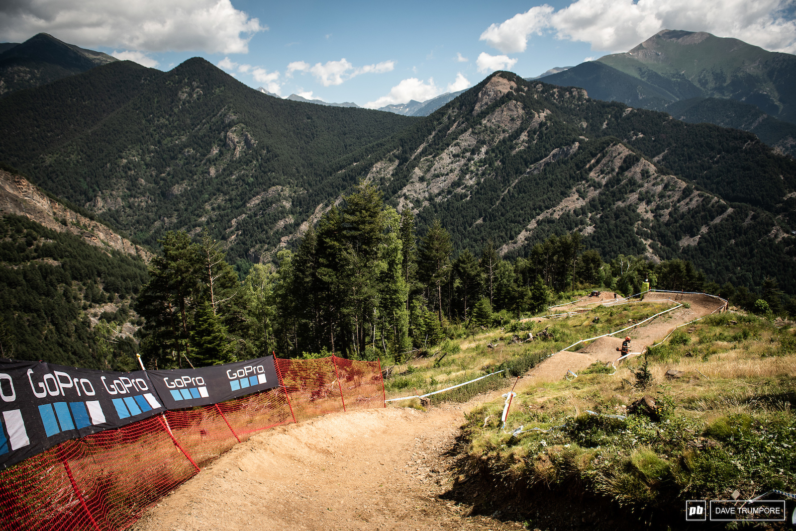 Berms and jumps with a view mid track.