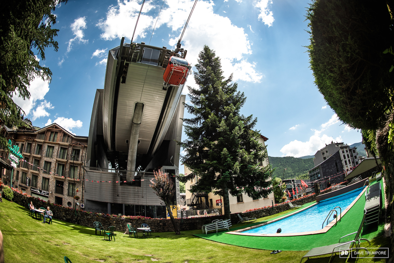 La Massana Andorra. Where the gondola to the start gate comes right out of town or if you are lucky right out of your hotel and over the pool.