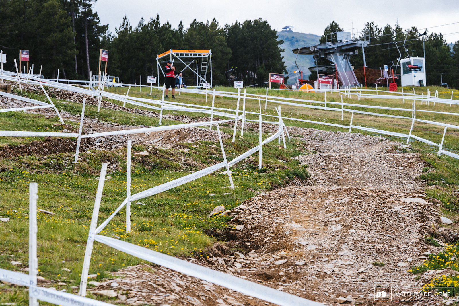 Berms and rollers back down into the venue. Just a little bit of park to spice it up.