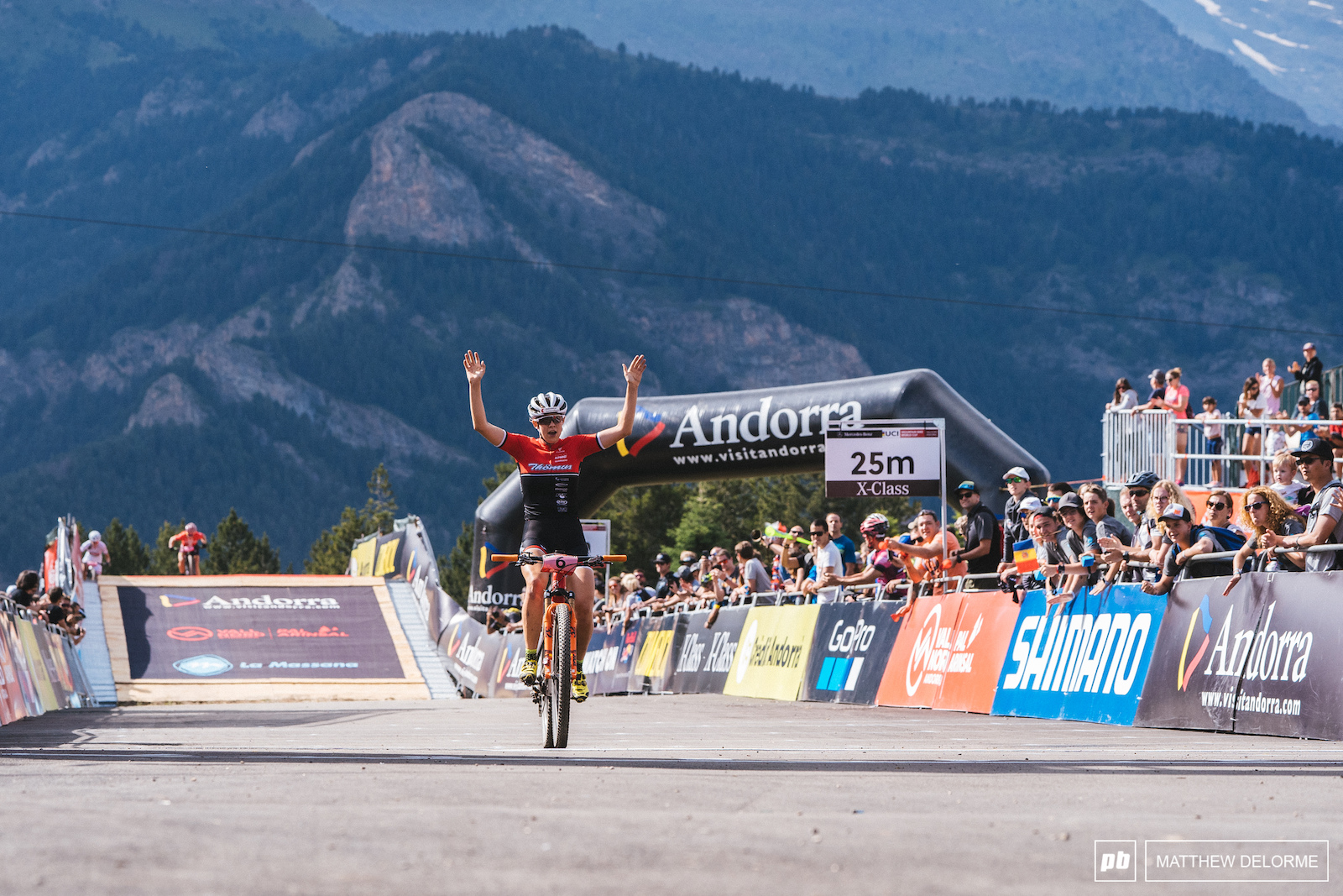 Alessandra Keller takes the win