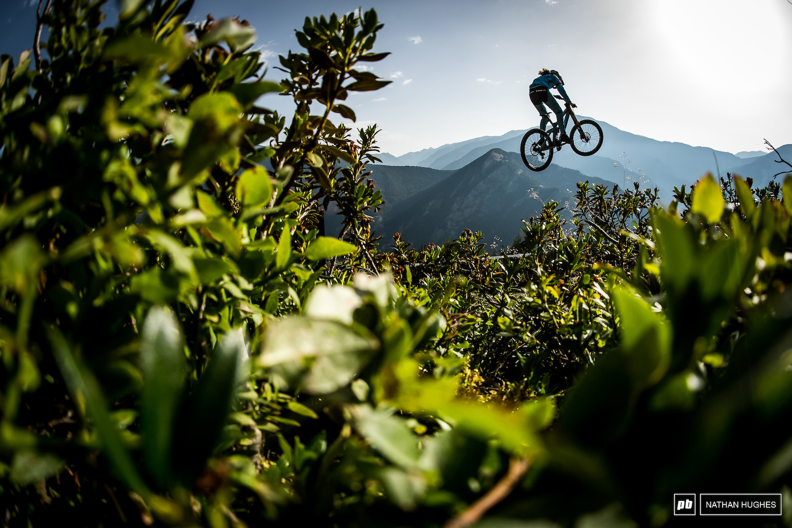 Early morning laps with a golden-hour view for Rachel Atherton.