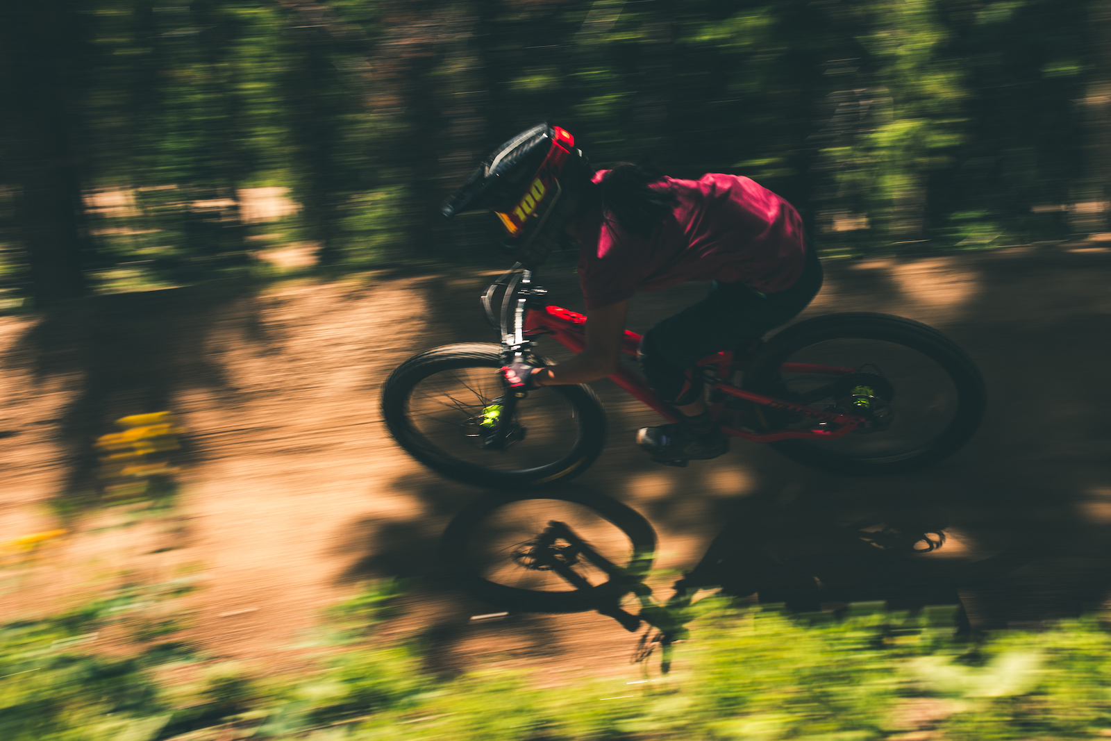 No Quarter is arguably one of the most fun trails on the mountain being a very free ride oriented trail. Wood features fast turns and big jumps make this one of a kind trail.