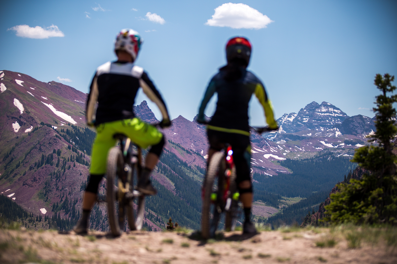 The Maroon Bells claim the most picturesque spot sitting at the top of the second lift at Snowmass.