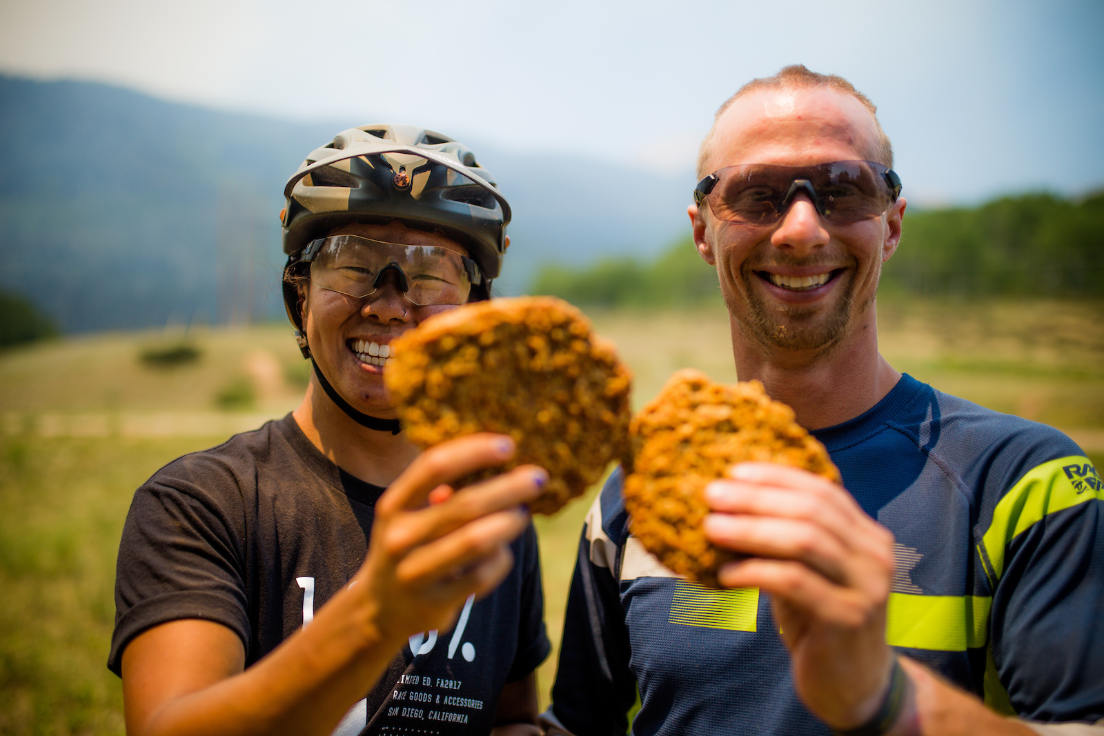 After the 10 mile trail Amy and Kevin were stoked to remember we had brought along some power cookies from Bread a bakery in town.