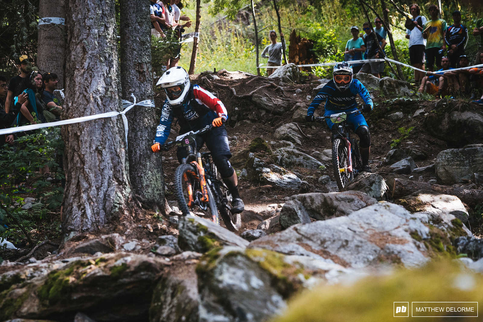 Ines Thoma hot on the heels of Bex Barona in the rock garden on stage six. Thoma finished third.