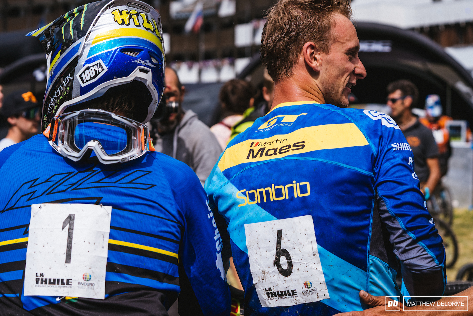 The fastest men on the EWS circuit. Hill and Maes put on a hell of a show.