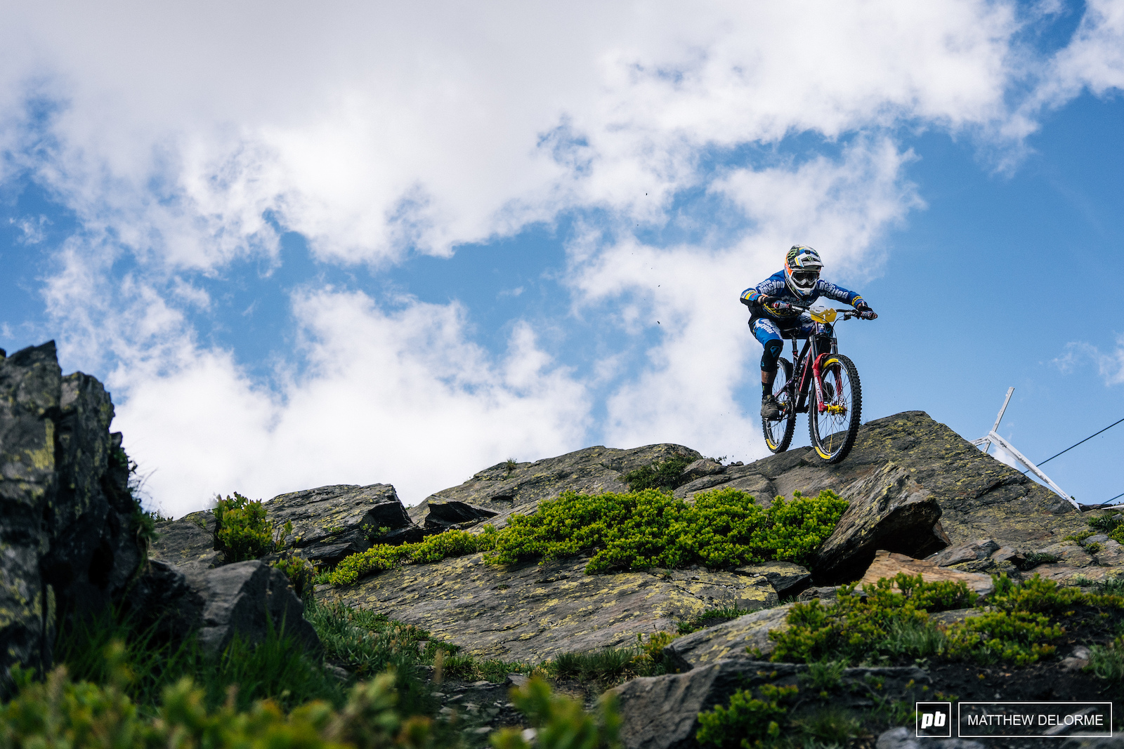 No roots rocks or steep terrain could slow down Sam Hill this weekend.