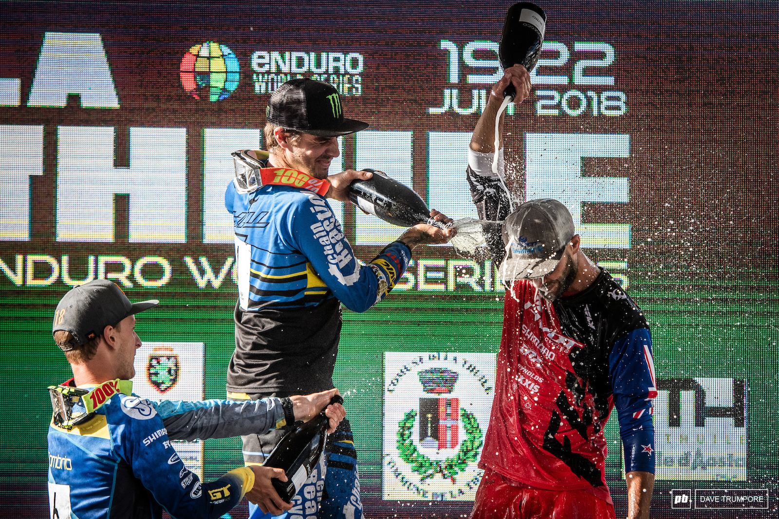 Podium showers to clean of the dust for Sam Hill Martin Maes and Eddie Masters