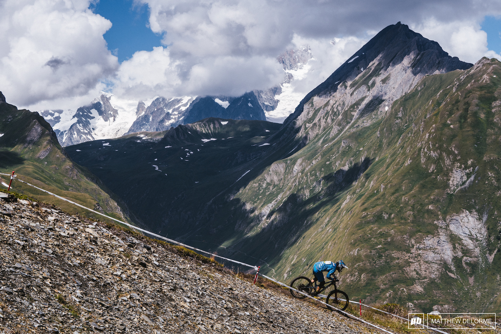 Florian Nicolai takes ninth place on the Italian side of the tallest mountain in Europe.