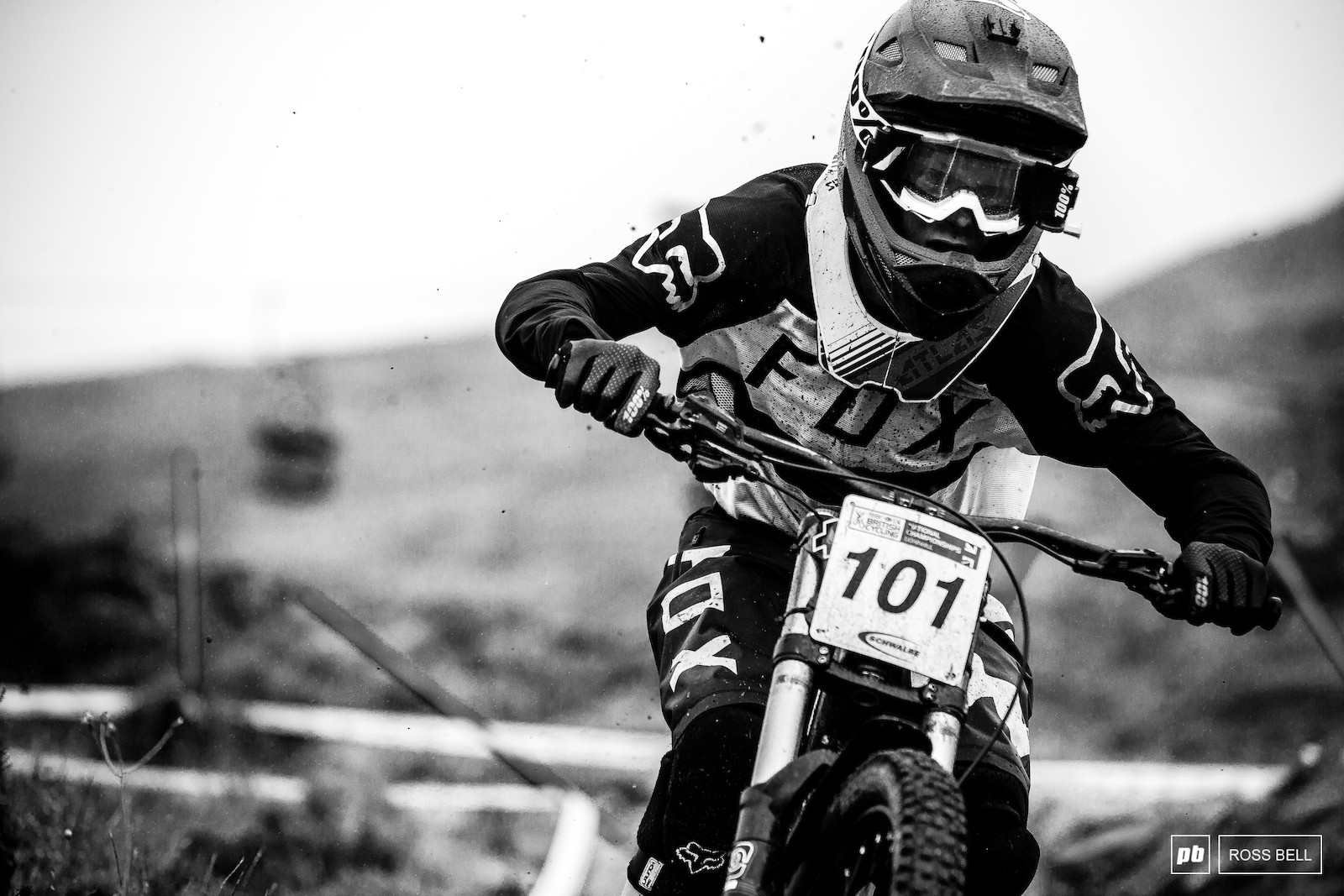 Jordan Williams cutting through the rain and leaving a trail of roost in it s place.