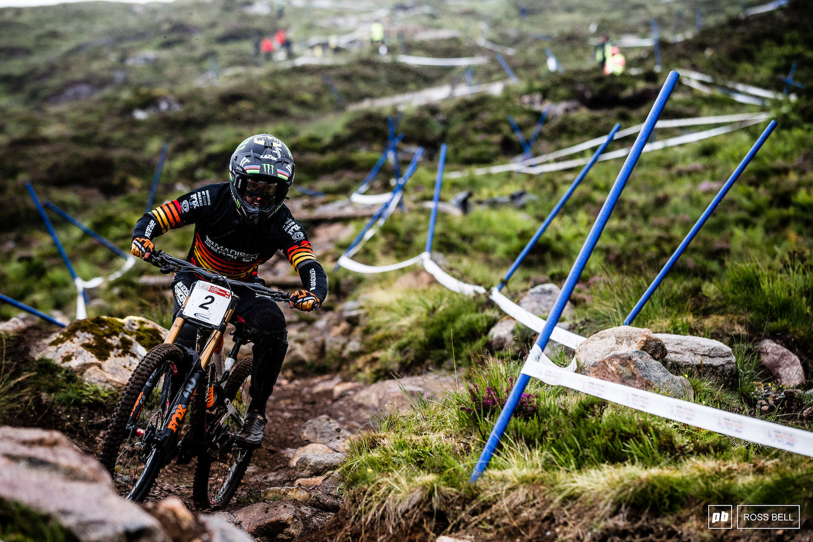 After taking a big crash in his seeding run Danny Hart dropped in first on race runs. He sat in the hot seat until the final rider down Matt Walker took a pretty commanding win.
